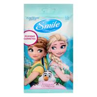 """Дитячі вологі серветки Smile Disney """"Крижане серце"""", 15 шт."""