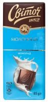 Шоколад Світоч молочний 85г х24
