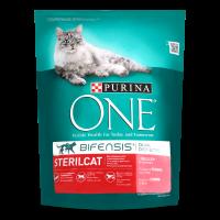 Корм Purina One для кастрованих котів з лососем 800г х8