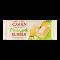 Шоколад Roshen Bubble Pineapple білий пористий 80г х17