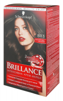 Крем-фарба інтенсивна для волосся Schwarzkopf Brillance №883 Елегантний Темно-Каштановий
