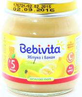 Пюре Bebivita фруктове Яблуко і банан 100г х6