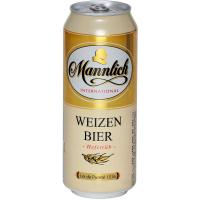Пиво Mannlich Hefetrun Weizen з/б 0,5л х24