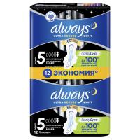 Гігієнічні прокладки Always Ultra Night, 12 шт.