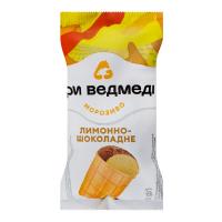 Морозиво Три Ведмеді лимонно-шоколадне 80г х22