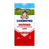 Молоко Слов`яночка 3,2% ултрапастеризоване 1000г х6