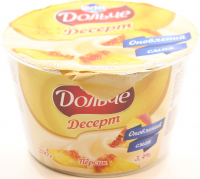 Десерт Lactel Дольче сирковий з наповнювачем Персик 3,4% 200г