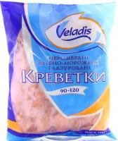 Креветки Veladis нерозібрані вар.-морож.глазур.90-120 1кг