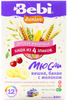 Каша Bebi Junior вишня банан та молоко 200г