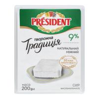 Сир President кисломолочний 9% 200г
