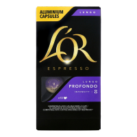 Кава LOR Espresso Profondo смажена мелена в капсулах 52г х12