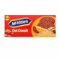 Печиво McVitie`s вівсяне вкрите молочним шоколадом 6*37,5г