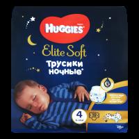 Підгузники-трусики Huggies Elite Soft нічні 9-14кг 19шт.
