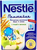 Каша Nestle Помогайка молочна 3 злака з груш.та ябл.200г х9