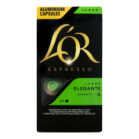 Кава LOR Espresso Elegante смажена мелена в капсулах 52г х12
