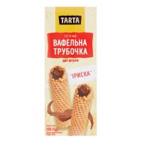 Тістечка TARTA Трубочка солодка Іриска 130г