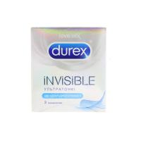 Презервативи латексні Durex Invisible, 3 шт.