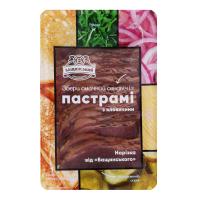 Пастрамі із яловичини нарізка від Бащинського 150г х5