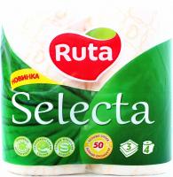 Туалетний папір Ruta Selecta Білий, 4 шт.