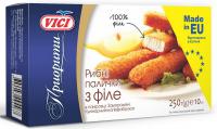 Рибні палички Vici Приорити з філе риби у паніровці заморожені 250г