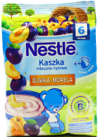 Каша Nestle суха мол Рисова зі сливою+абикосом 6м+ 230г х8