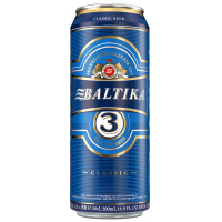 Пиво Балтика №3 класичне з/б 0.5л