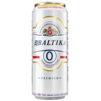 Пиво Балтика №0 б/а з/б 0,5л