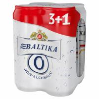 Пиво Балтика №0 б/а з/б 4*0,5л