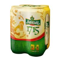 Пиво Львівське 1715 з/б 4*0,5л