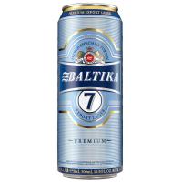 Пиво Балтика №7 експортне лагер світле фільтроване 5.4% ж/б 0.5л