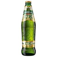 Пиво Львівське 1715 світле фільтроване 4.7% с/б 0,45л
