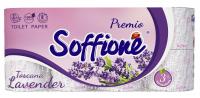Туалетний папір Soffione Premio Toscana Lavander Білий, 8 шт.