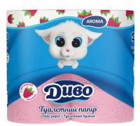 Папір туалетний Диво Aroma рожевий 2шар. 4шт.