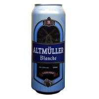 Пиво Полтава Альт Мюллер Бланш лагер 4.9% ж/б 0.5л
