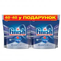 Таблетки для посудомийних машин Finish Quantum, 40 шт.+40 шт.