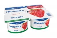 Йогурт Danone Живинка Полуниця 1,5% 4*115г