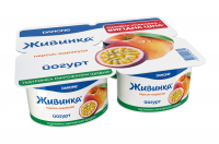Йогурт Danone Живинка Персик-маракуйя 1,5% 4*115г