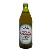 Пиво Жива Легенда лагер світле непастеризоване 4,4% с/п 0.5л