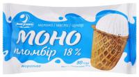 Морозиво Ласунка Моно пломбір 18% ст 80г