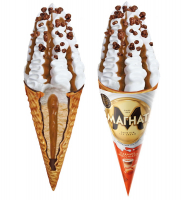 Морозиво Хладик Магнат Premium Caramel ріжок 140г