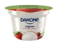 Сирок Danone Полуниця-суниця 3,4% 170г