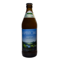 Пиво Karpatskyi Browar Карпатське світле лагер 3,5% 0,5л с/б