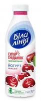 Йогурт Біла ліня з наповнювачем Черешня 1,5% 820г