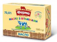 Масло Ферма Селянське з вітамінами 73% 180г