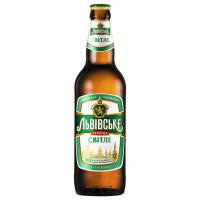 Пиво Львівське світле с/б 0.5л