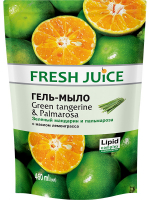 Гель-мило рідке Fresh Juice Green tangerine & Palmarosa, 460 мл (дой-пак)