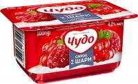 Сирок Чудо 4,2% малина-червона смородина 100г