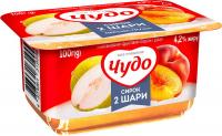 Сирок Чудо 4,2% персик-груша 100г
