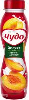 Йогурт Вімм-Білль-Данн Чудо Персик-абрикос 2,5% 270мл