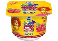 Йогурт Lactel Локо Моко Малина 1,5% 115г